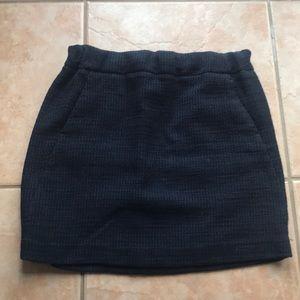 Ann Taylor LOFT Navy and Black Stretch Skirt EUC
